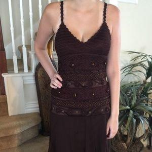 Sue Wong Crocheted Beaded Dress